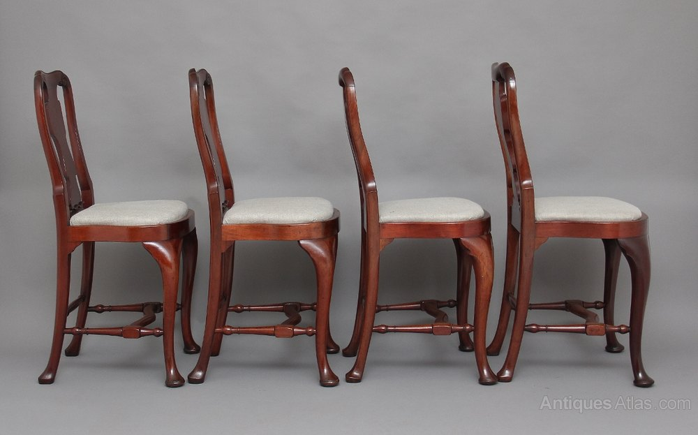 A Set Of Four Queen Anne Style Counter Stools Antiques Atlas