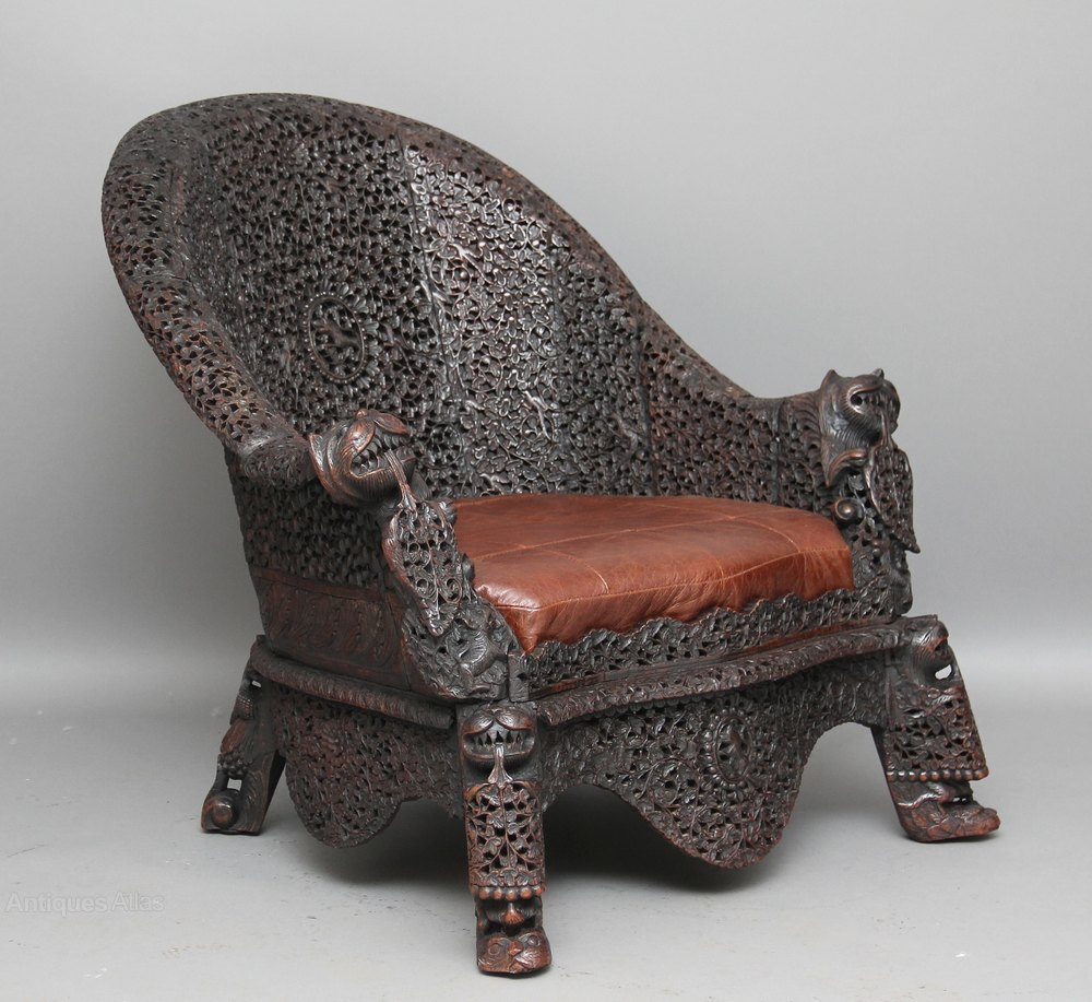 Carved Burmese Chair Antiques Atlas