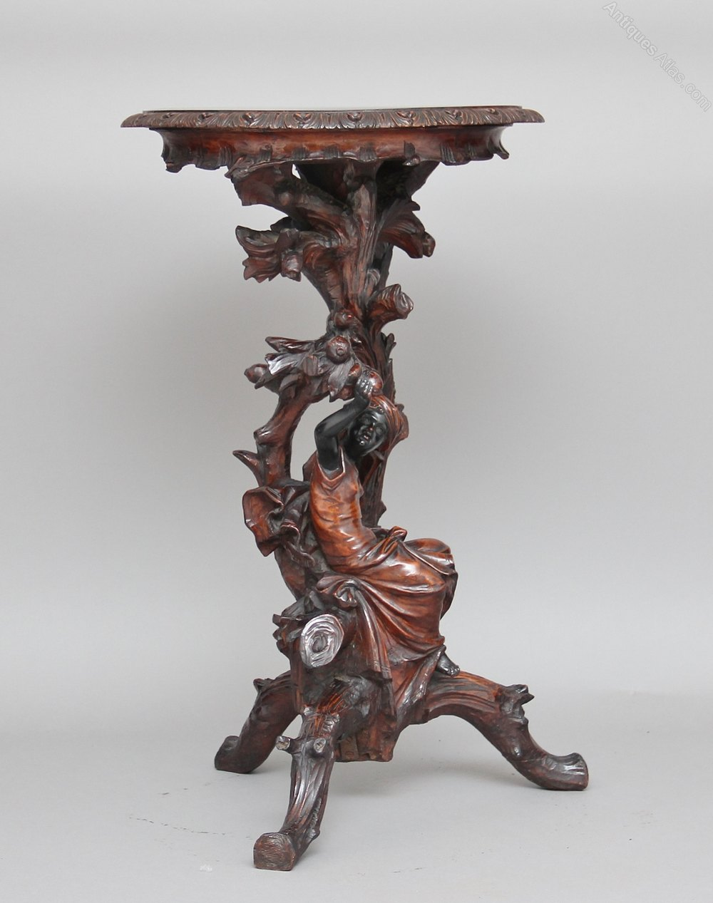 Carved torchere table antiques atlas