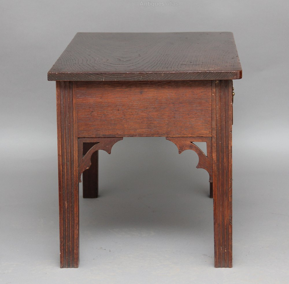 Gothic Oak Side Table Antiques Atlas