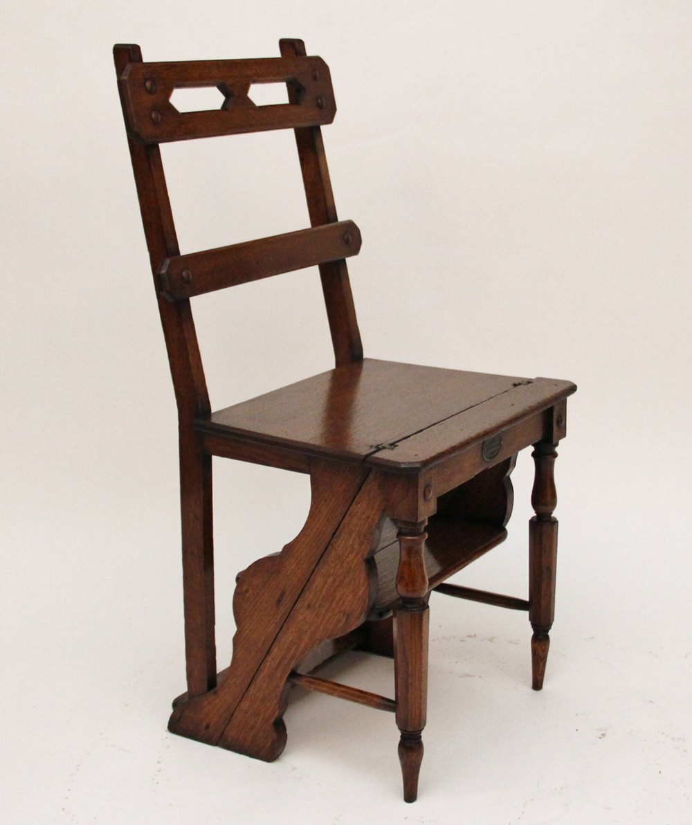 Library Step Chair Antiques Atlas
