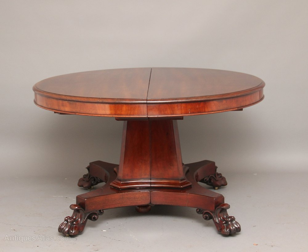 Mahogany three leaf dining table antiques atlas - Antiques dining tables ...