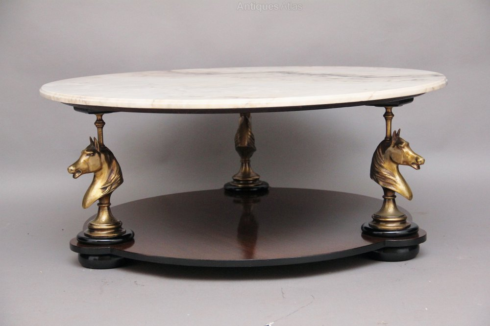 Antiques atlas marble top coffee table for Stone topped coffee tables
