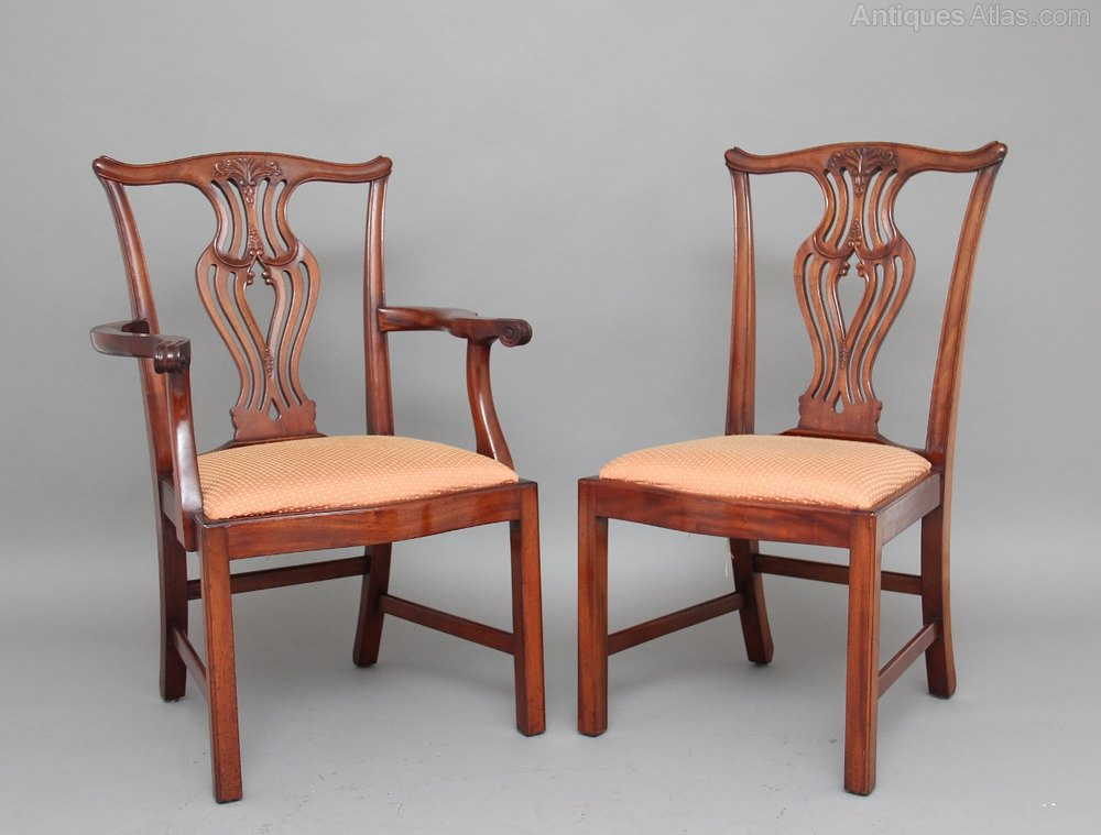 Chippendale side chair - Antiques Atlas Set Of 8 Chippendale Style Dining Chairs