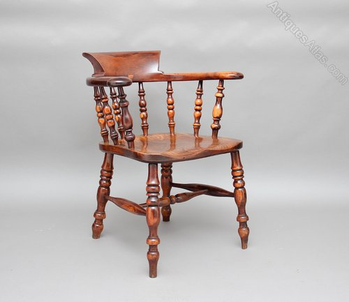 Yew wood captains chair antiques atlas
