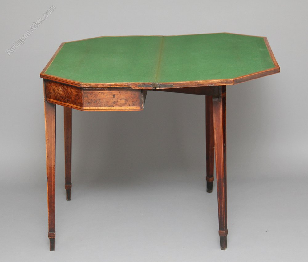 Yew Wood Card Table Antiques Atlas
