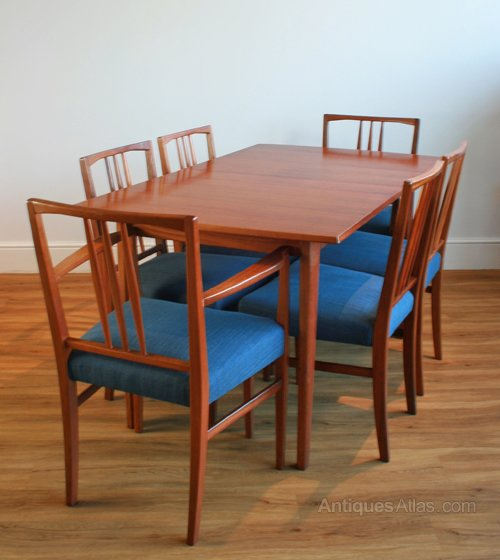 Antiques Atlas 1950s Dining Table Six Chairs By Gordon Russell
