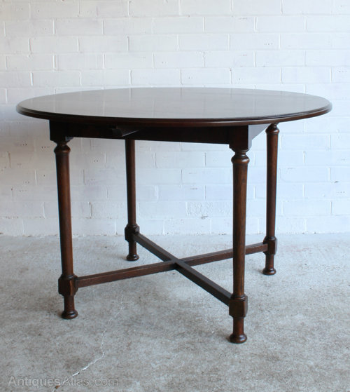 A heal 39 s oak circular dining table antiques atlas - Heals dining table ...