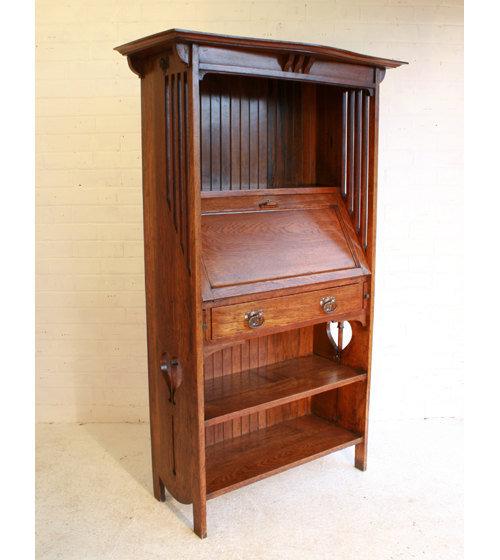an arts crafts oak bureau bookcase antiques atlas. Black Bedroom Furniture Sets. Home Design Ideas