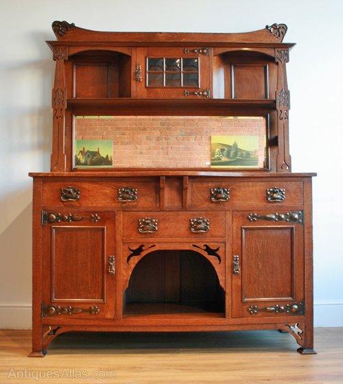 an arts crafts oak sideboard antiques atlas. Black Bedroom Furniture Sets. Home Design Ideas