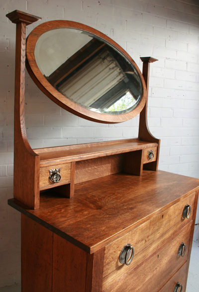 An Arts And Crafts Oak Dressing Table Antiques Atlas