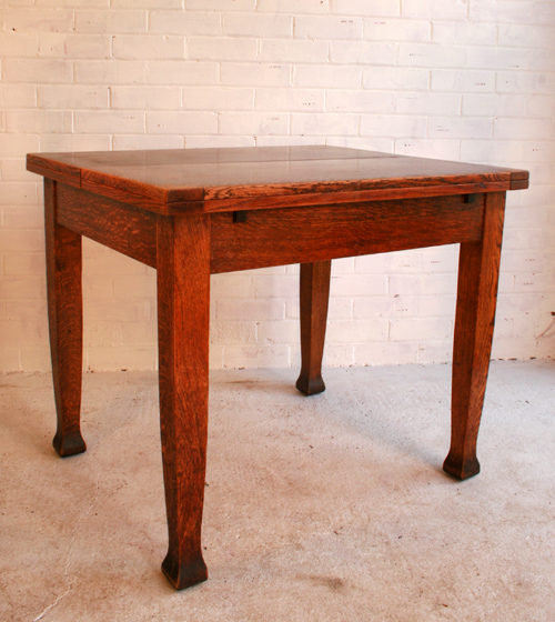 an arts and crafts oak kitchen table antiques atlas
