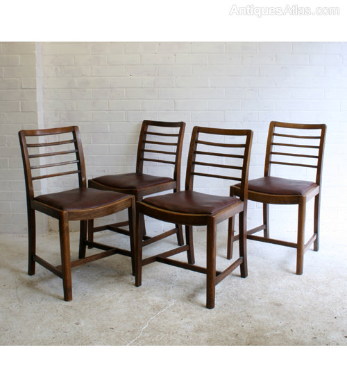 Four Heals-style Utility Dining Chairs