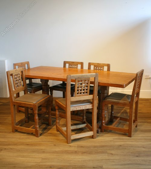 Antiques atlas yorkshire oak dining suite by the