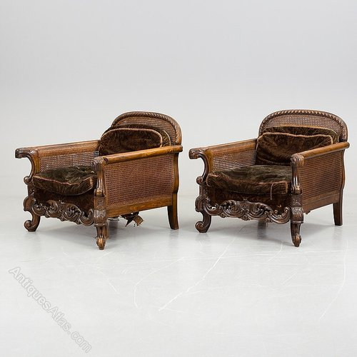 Antique Carved Walnut Bergere 3 Piece Suite Antiques Atlas Cost Of Reupholstering A Sofa Ireland Upholstery