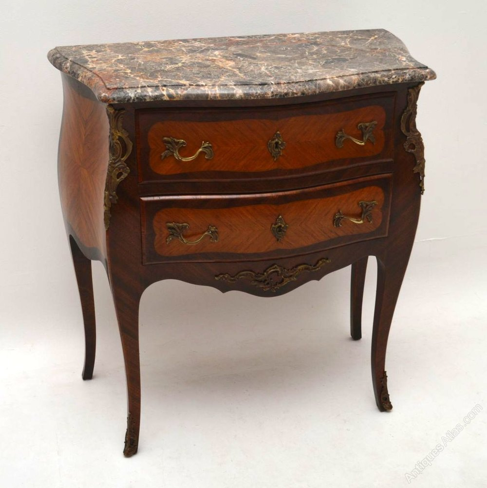 antique french marble top bombe commode antiques atlas. Black Bedroom Furniture Sets. Home Design Ideas