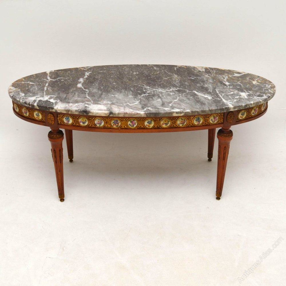 Marble Coffee Table Antique: Antique French Marble Top Coffee Table