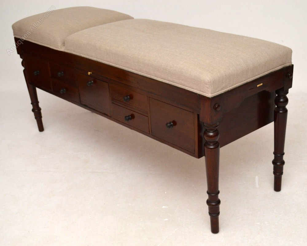 Antique Mahogany Doctors Examination Couch Bed Antiques