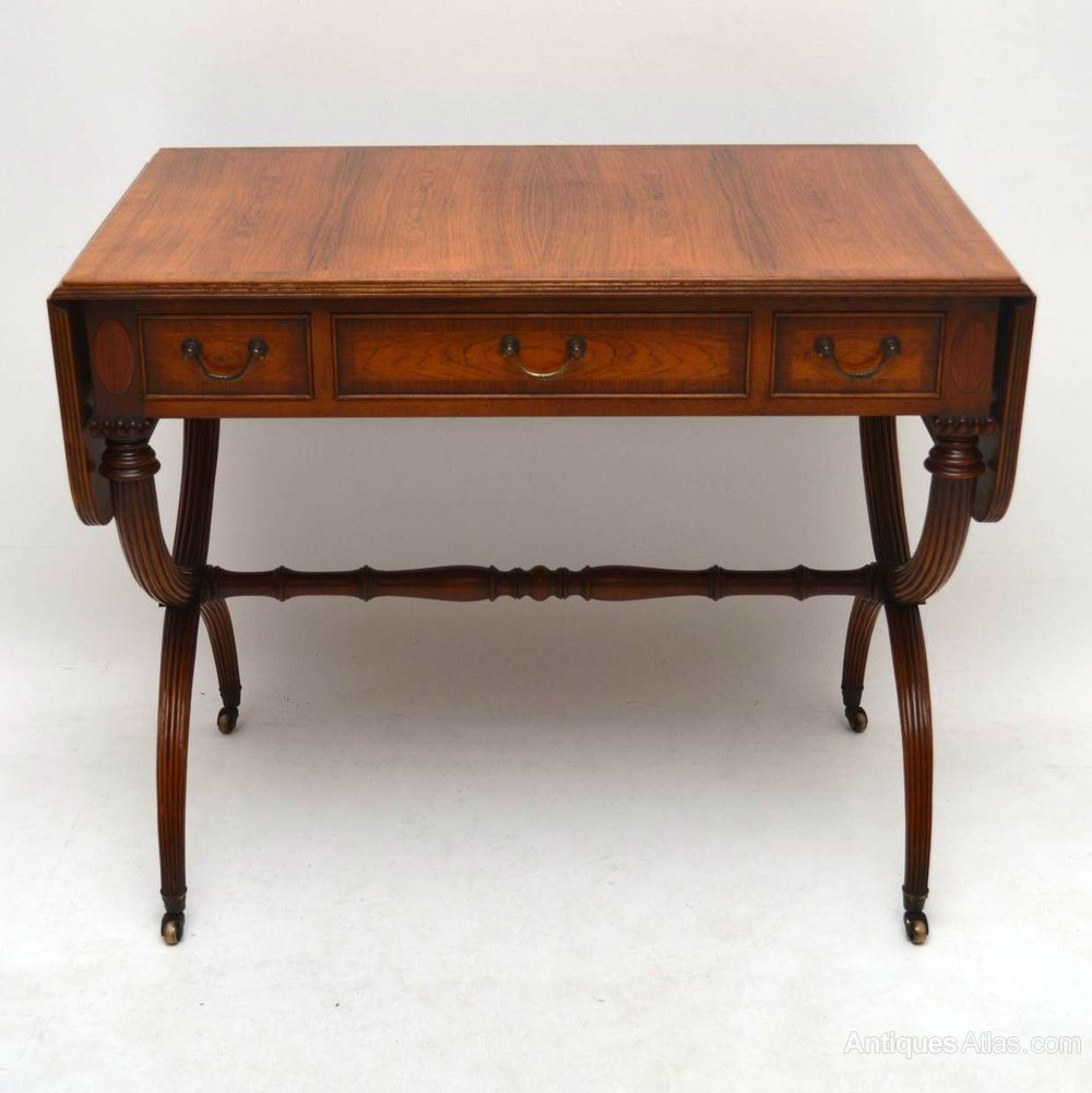 Antique regency style rosewood sofa table antiques atlas for Sofa table vintage