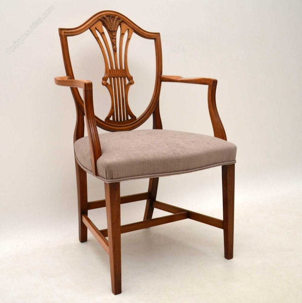 Set of 10 mahogany shield back dining chairs antiques atlas for Dining room 10 chairs