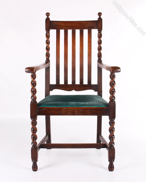 Six 20thC Barley Twist Chairs - Antiques Atlas