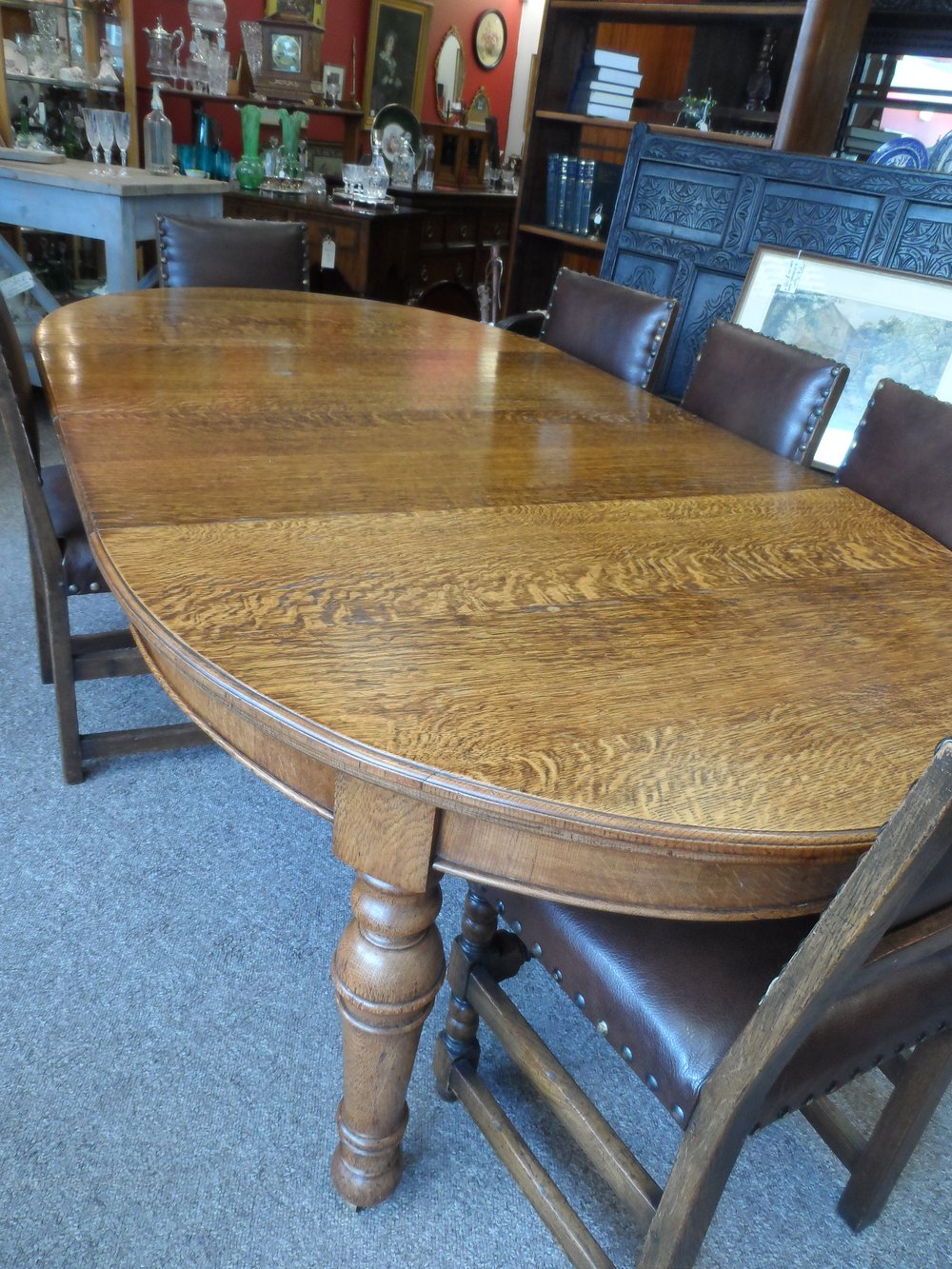 Large victorian golden oak extending dining table antiques atlas - Antiques dining tables ...
