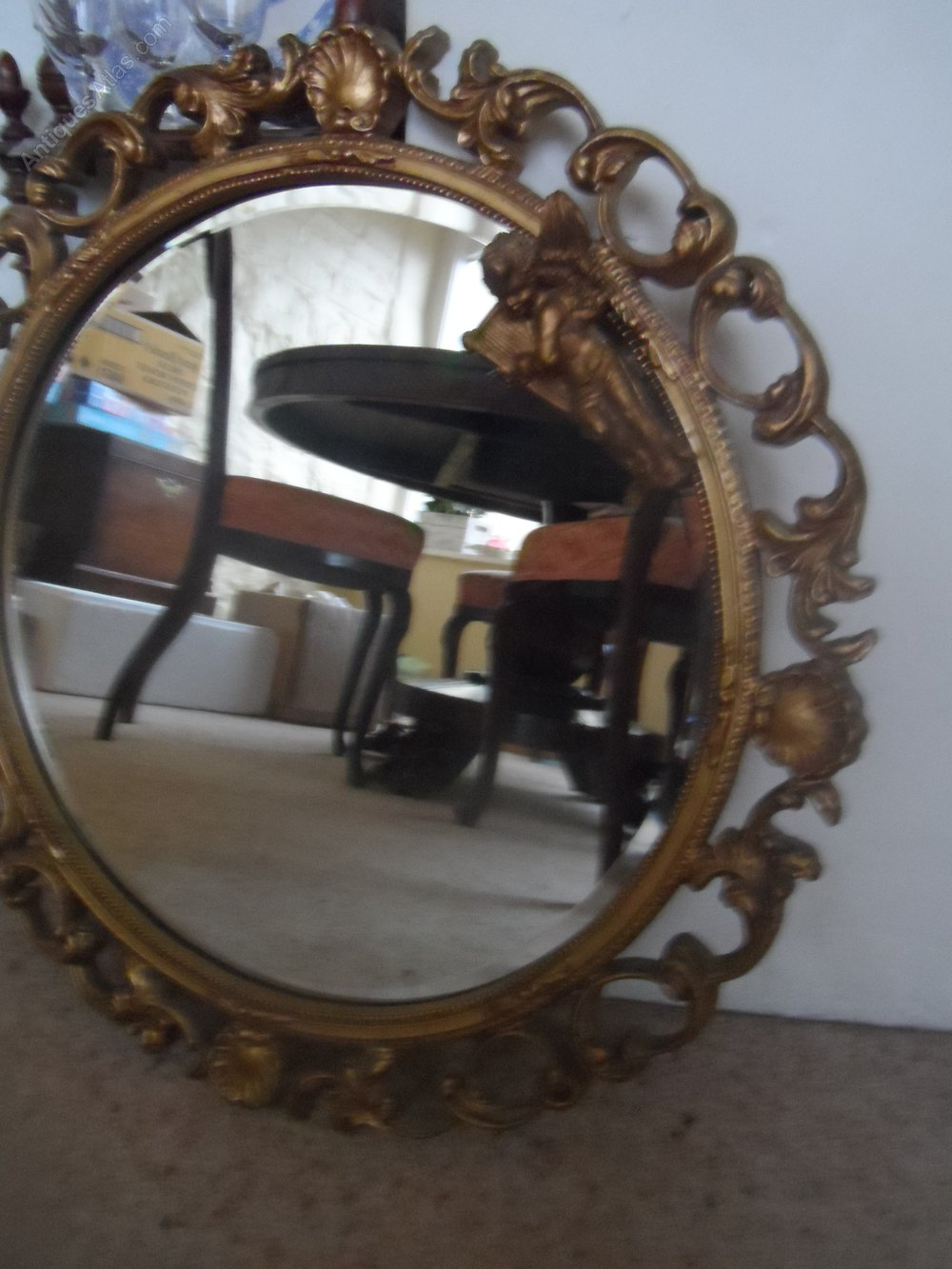 Antiques Atlas Ornate Vintage Round Gilt Mirror With A
