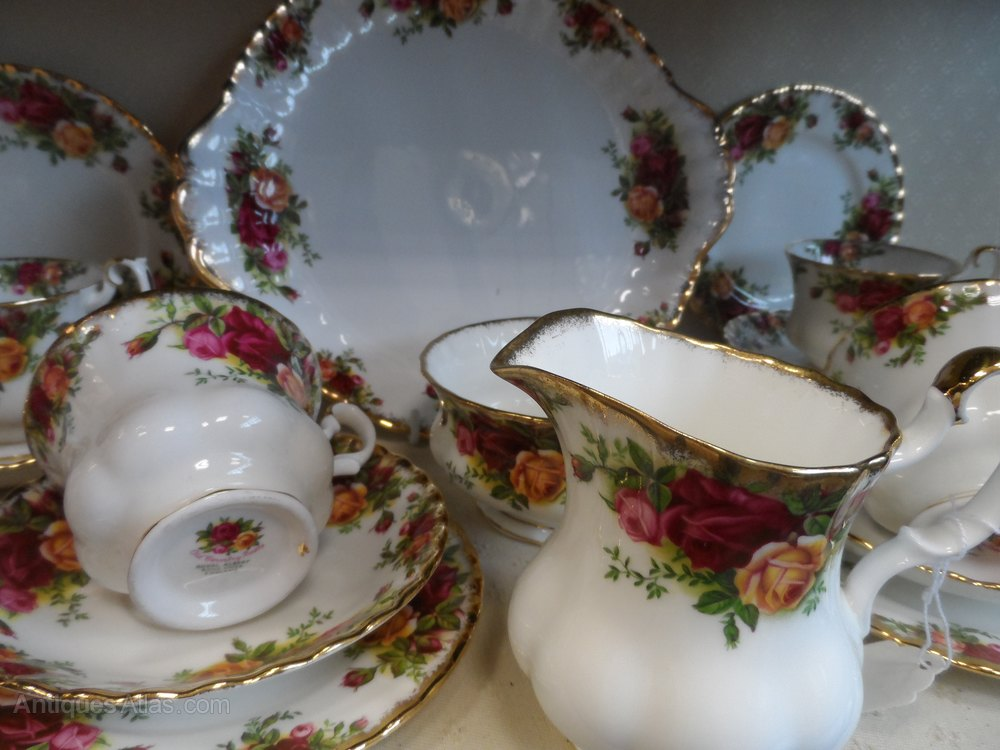 Antiques Atlas Royal Albert Old Country Roses Full Tea