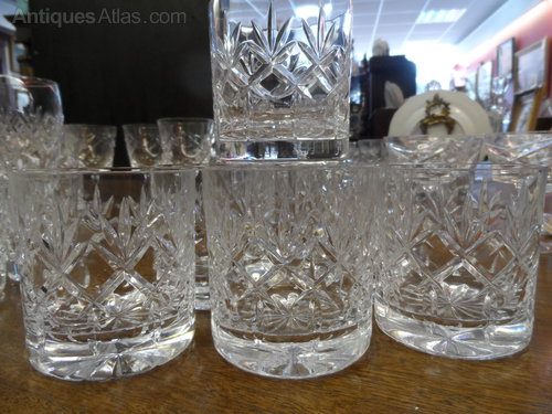 Crystal Cut Glass Tumblers