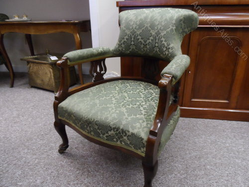 Stunning Edwardian Tub Chair Antique ... - Stunning Edwardian Tub Chair - Antiques Atlas