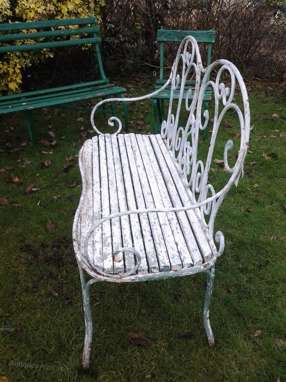 Antiques Atlas French Cast Iron Garden Bench Seat