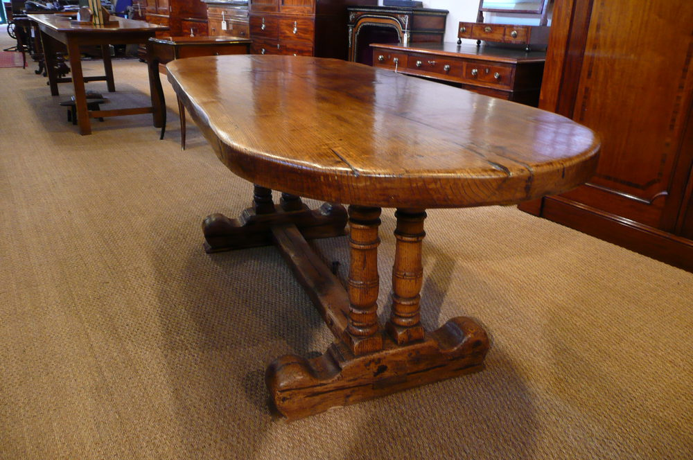 FARMHOUSE DINING TABLE OAK C 1920 Antiques Atlas