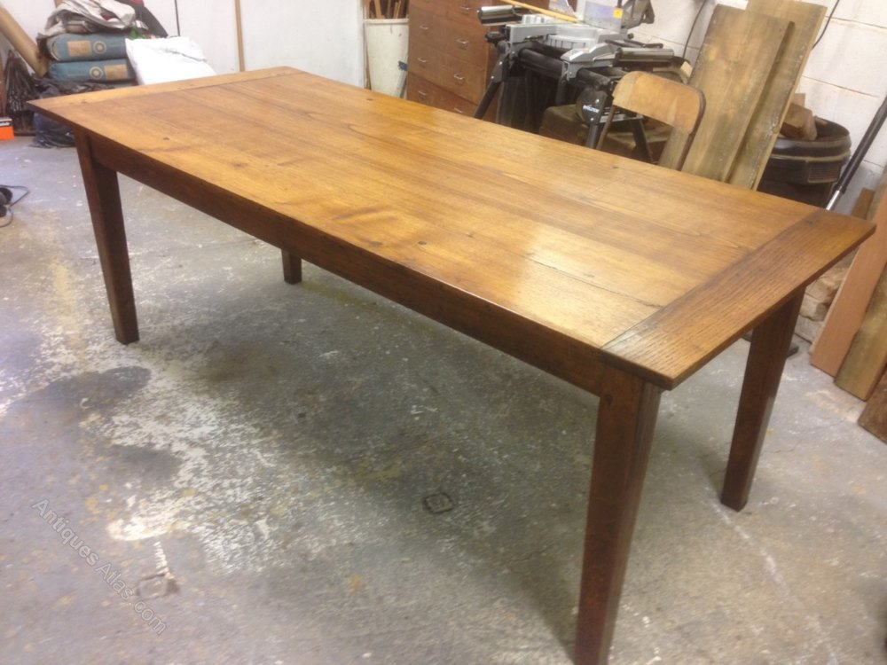 Oak Farmhouse Table Dining Table kitchen Table Antiques Atlas