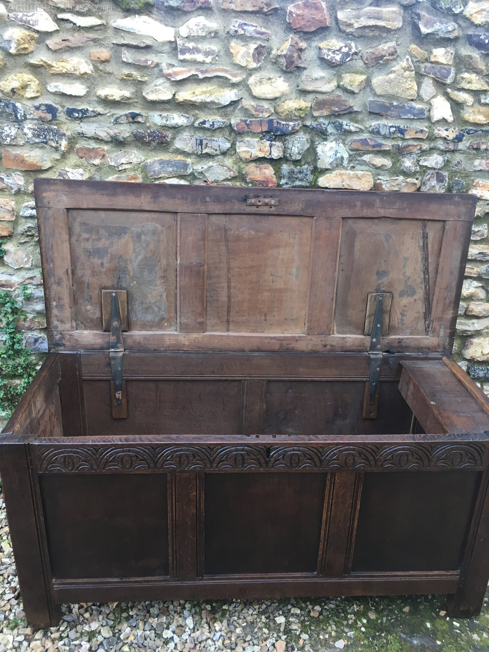Antique Oak Coffer - Antiques Atlas