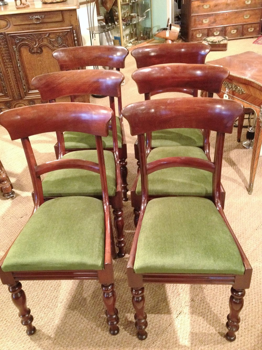 Mahogany Dining Chairs Set Of 6 Antiques Atlas