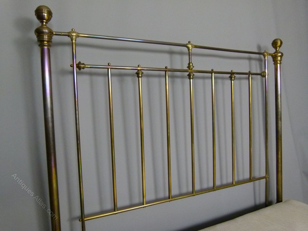 Original Victorian Brass Beds : Fine original victorian all brass king size bed antiques