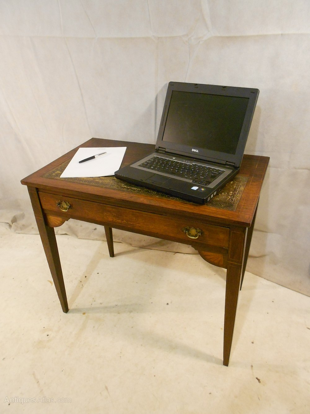 Antique Victorian Rosewood Ladies Writing Desk Antiques