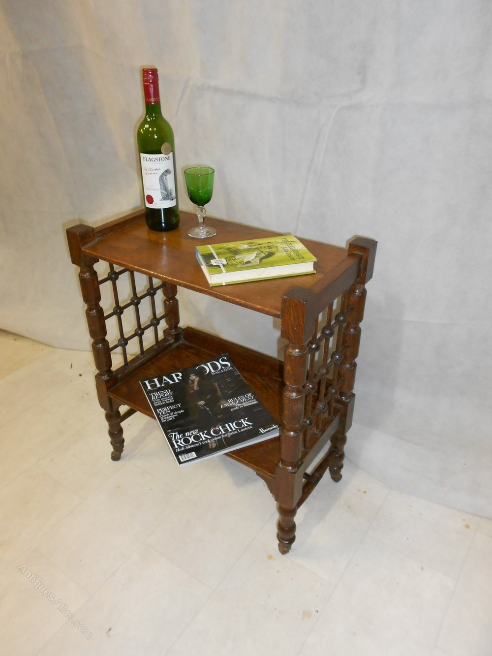 Arts & Crafts Liberty Oak Bookcase By L Wyburd - Antiques ...