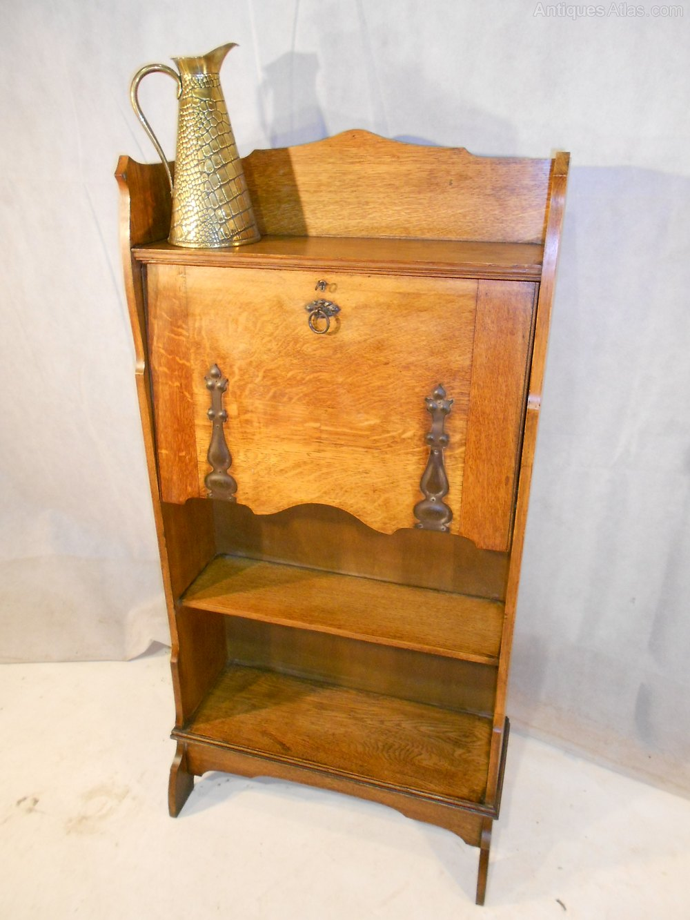 Arts and crafts bureau - Arts Crafts Oak Bureau C1870 90