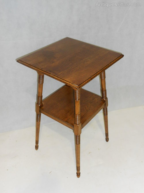 Arts crafts side table manner of william birch for Arts and crafts side table