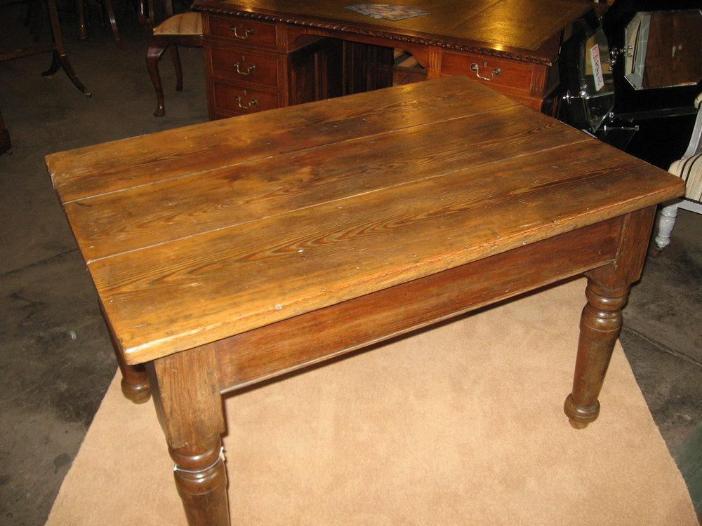 Victorian Pitch Pine Farmhouse Table Antiques Atlas