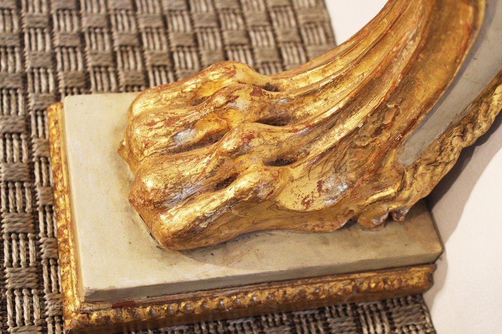 Console table carved gilt faux marble top antiques atlas