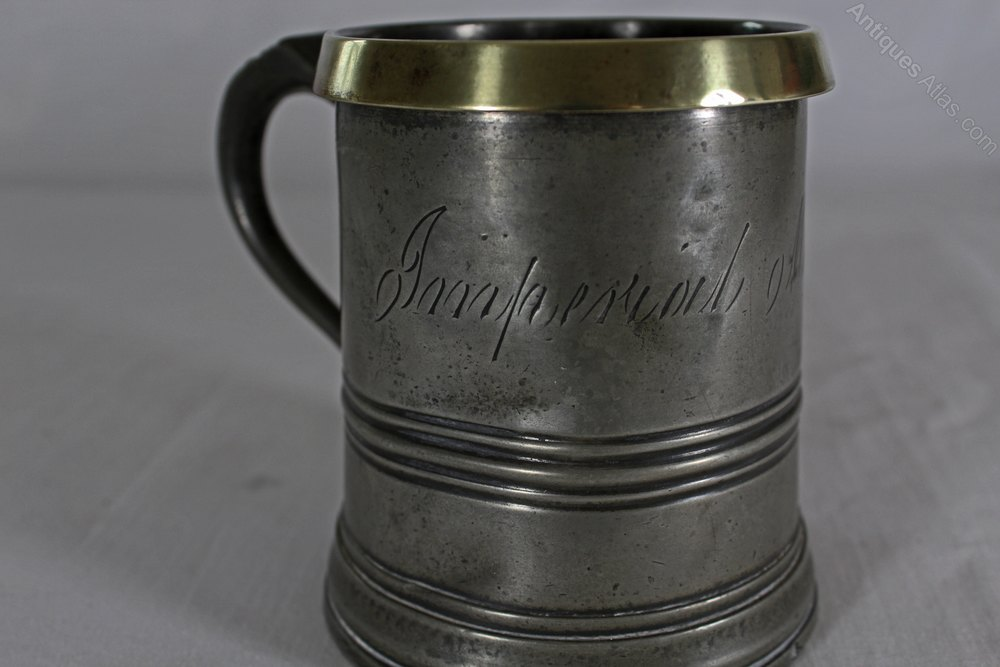 Antiques Atlas Victorian Pewter Tankard Imperial Pint