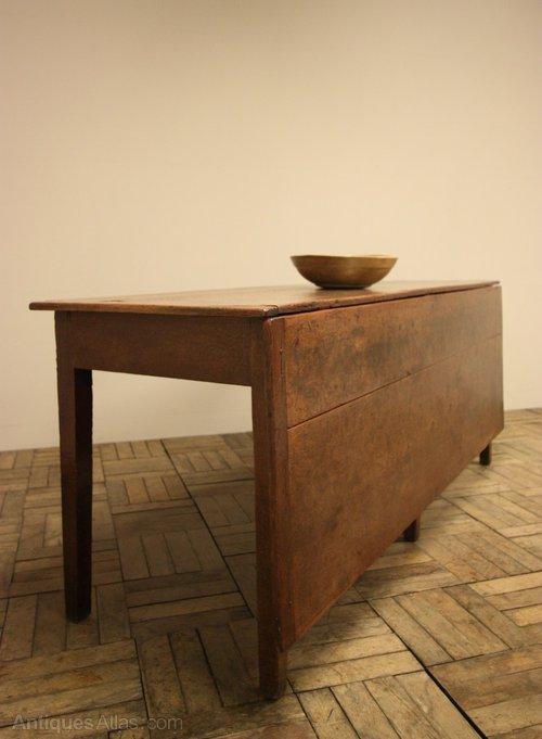 18th C Antique Oak Single Gate Leg Dining Table Antiques Atlas
