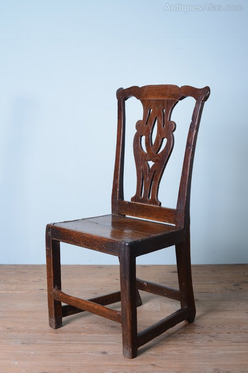 Chippendale side chair - 18th Century Antique Oak Side Chair Antiques Atlas