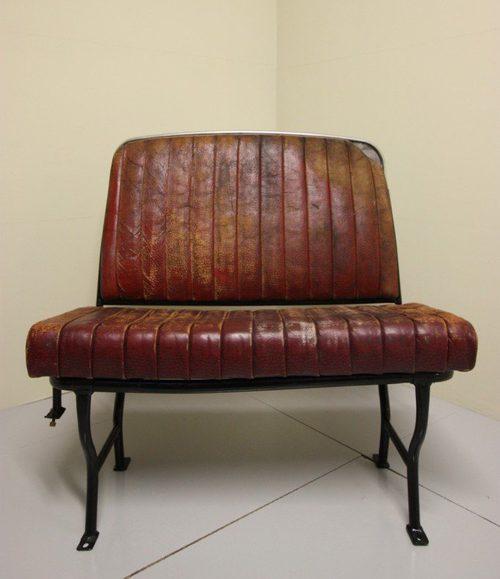 Antique Bus Seats : Antiques atlas s english leather bus seat