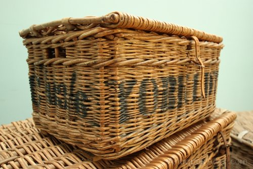 Next Woven Basket : Antiques atlas s woven willow basket york laundry