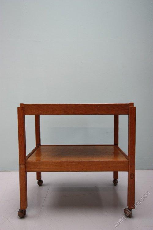 Antiques Atlas 1950 s Oak Trolley Pair Tables By Acorn Man