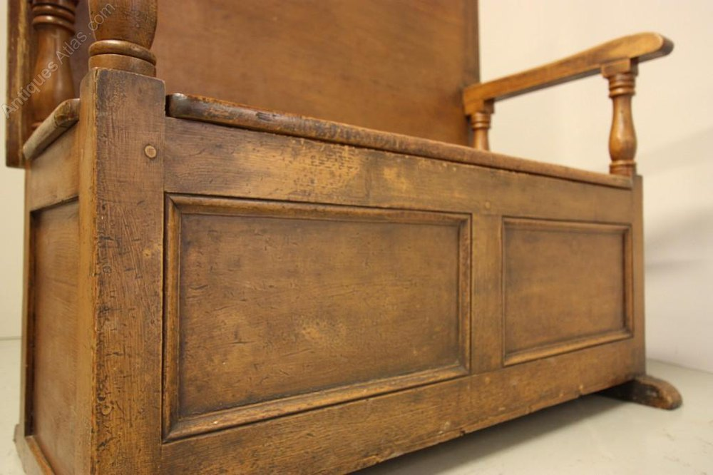 welsh antique painted pine monks bench antiques atlas