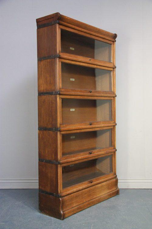 Antique Globe Wernicke Oak Stacking Bookcase - Antiques Atlas